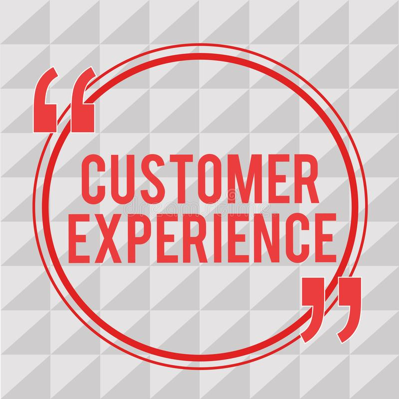 Writing note showing Customer Experience. Business photo showcasing Interaction between Satisfied Customer and. Organization vector illustration