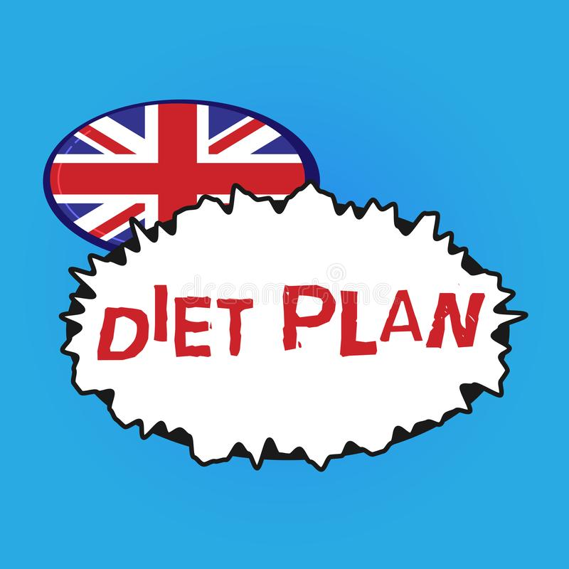 Writing note showing Diet Plan. Business photo showcasing Use of specific intake of nutrition for health analysisagement. Reasons stock illustration