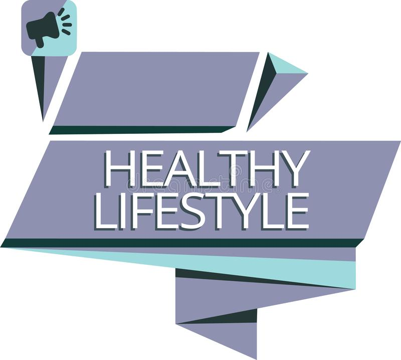 Writing note showing Healthy Lifestyle. Business photo showcasing Live Healthy Engage in physical activity and exercise.  vector illustration