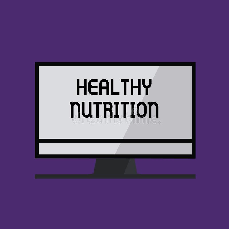 Writing note showing Healthy Nutrition. Business photo showcasing eating a healthy and nutritional food Balanced diet.  vector illustration