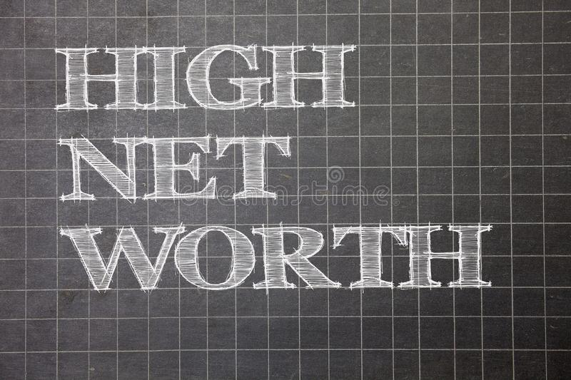 Writing note showing High Net Worth. Business photo showcasing having high-value Something expensive A-class company Graph paper. Grey messages thoughts ideas vector illustration