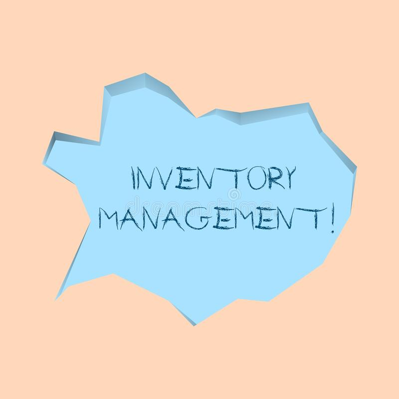 Writing note showing Inventory Management. Business photo showcasing supervision of noncapitalized assets and stock. Writing note showing Inventory Management vector illustration