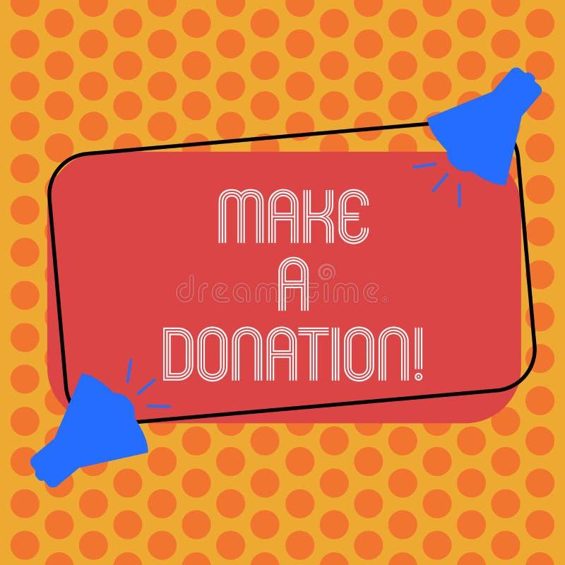 Donation Box Rectangular Stamp Collection. Stock Vector