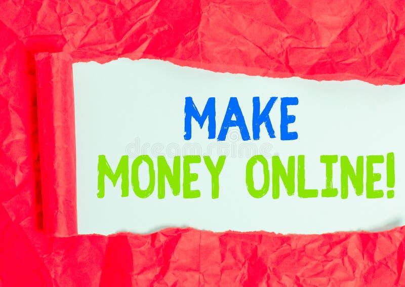 Writing note showing Make Money Online. Business photo showcasing making profit using internet like freelancing or marketing. Writing note showing Make Money royalty free stock images