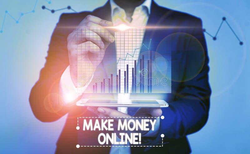 Writing note showing Make Money Online. Business photo showcasing making profit using internet freelancing or marketing. Writing note showing Make Money Online stock images