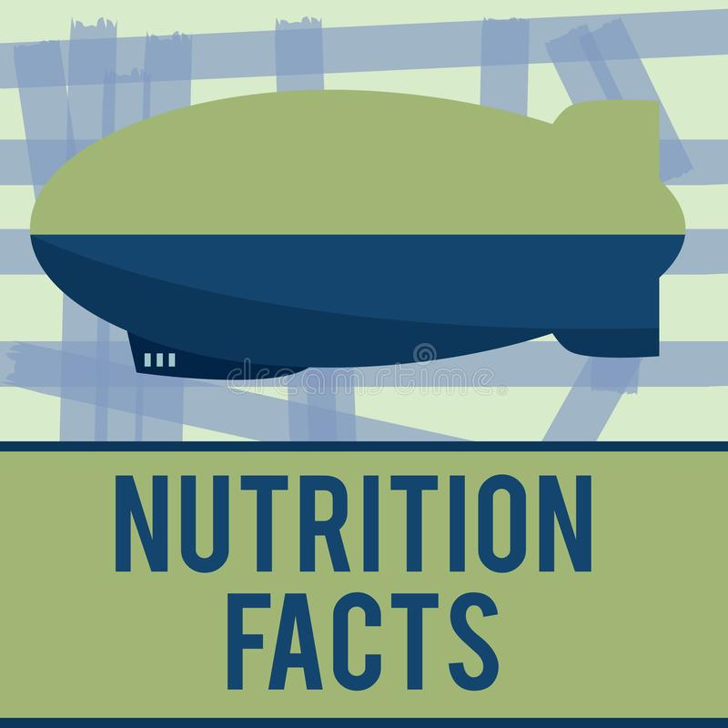 Writing note showing Nutrition Facts. Business photo showcasing Detailed information about the nutrients of the food.  vector illustration