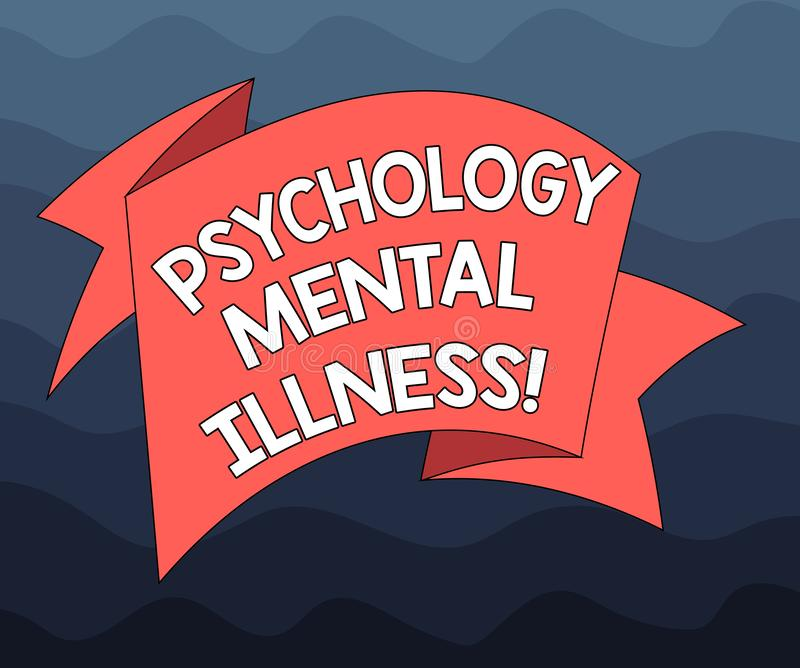Writing Note Showing Psychology Mental Illness. Business ...