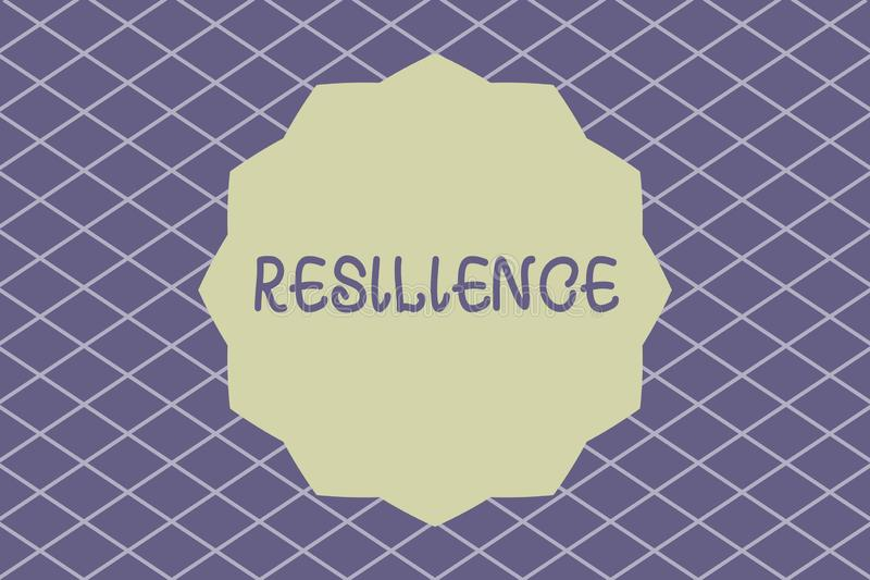 Writing note showing Resilience. Business photo showcasing Capacity to recover quickly from difficulties Persistence.  vector illustration