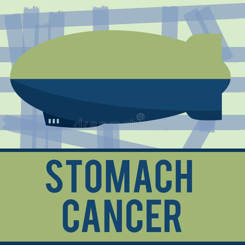 Writing note showing Stomach Cancer. Business photo showcasing Malignant tumor of the stomach that starts at the lining.  vector illustration