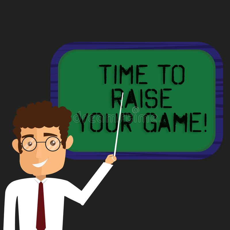 writing note showing time to raise your game business