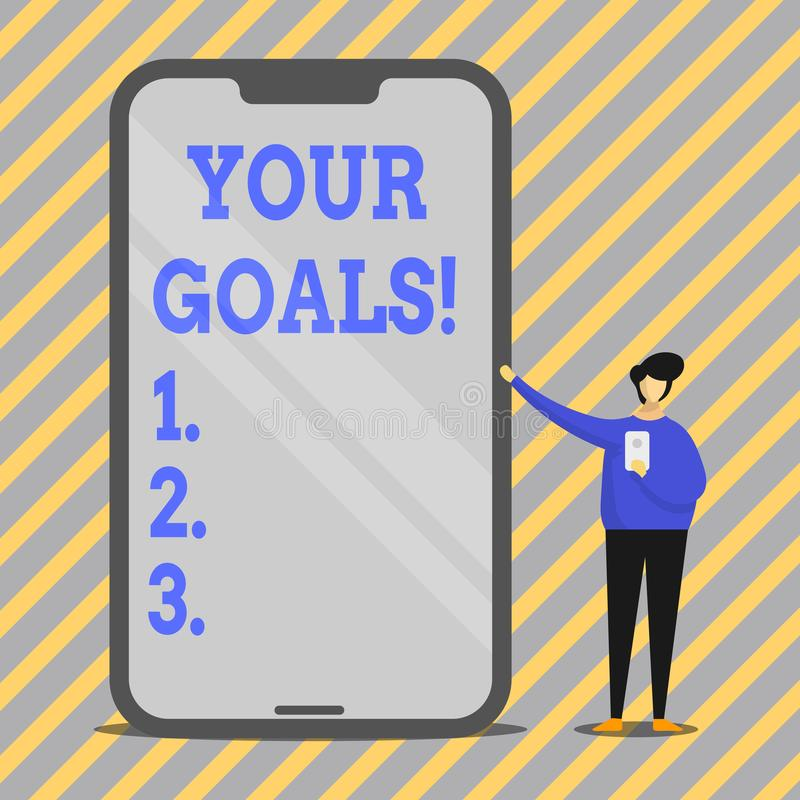 Free Writing Note Showing Your Goals. Business Photo Showcasing Something That You Hope To Achieve Or Get In Near Or Far Stock Image - 142957821