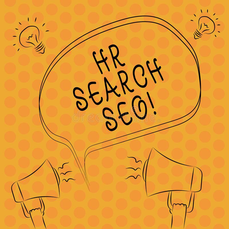 Writing note showingHr Search Ceo. Business photo showcasing Huanalysis resources seeking for new Chief Executive Officer Freehand vector illustration