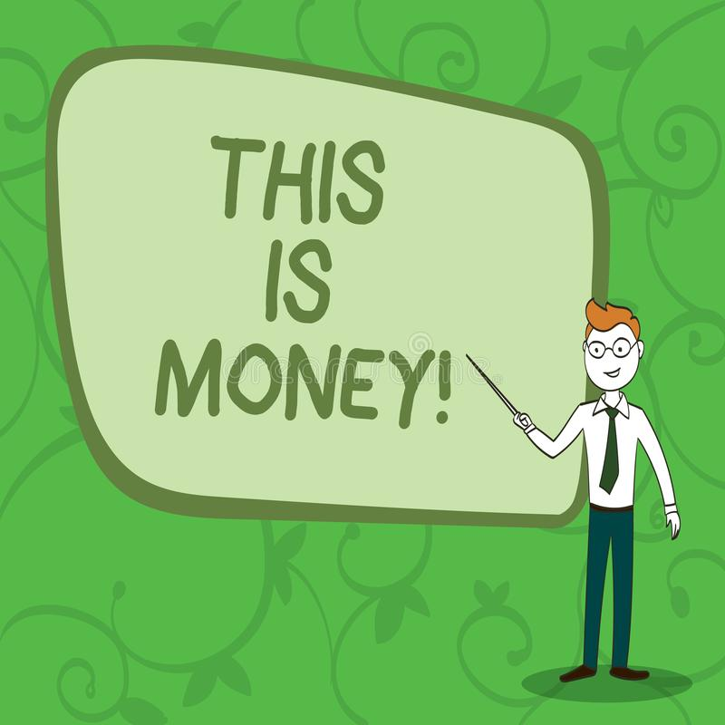 Writing note showingTime Is Money. Business photo showcasing Better to do things as quickly as possible Do not delay. Writing note showingTime Is Money royalty free illustration
