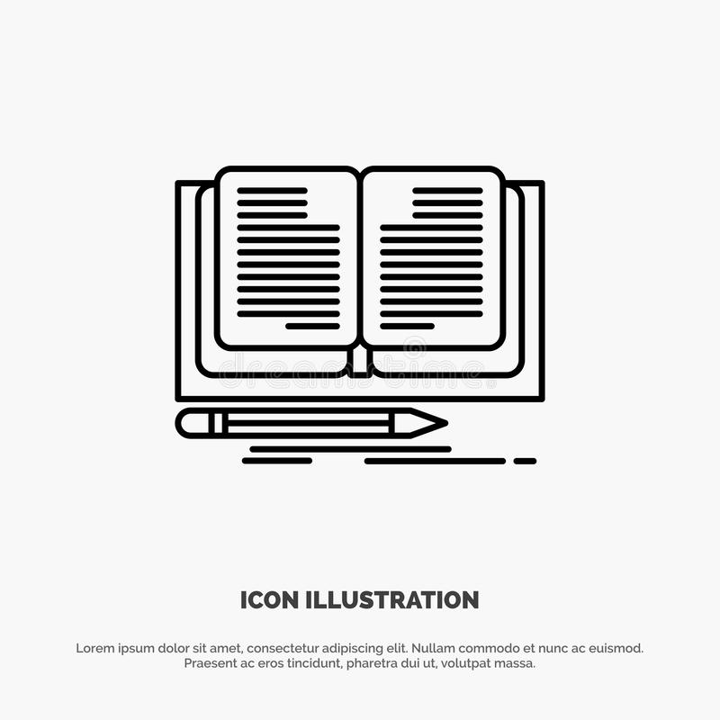 Writing, Novel, Book, Story Line Icon Vector vector illustration