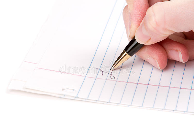 Download Writing On Paper Royalty Free Stock Image - Image: 28077856