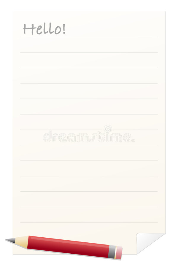 Download Writing paper with stock illustration. Image of graphic - 8614123