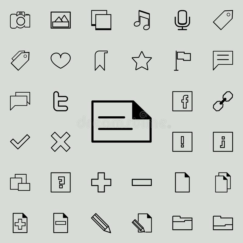 writing on paper icon. Detailed set of minimalistic icons. Premium graphic design. One of the collection icons for websites, web d stock illustration