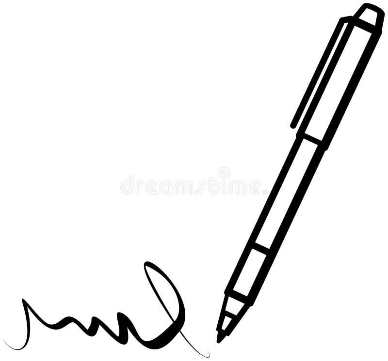Writing pen royalty free illustration
