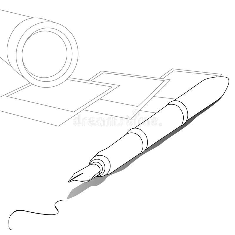 Writing & photography stock illustration