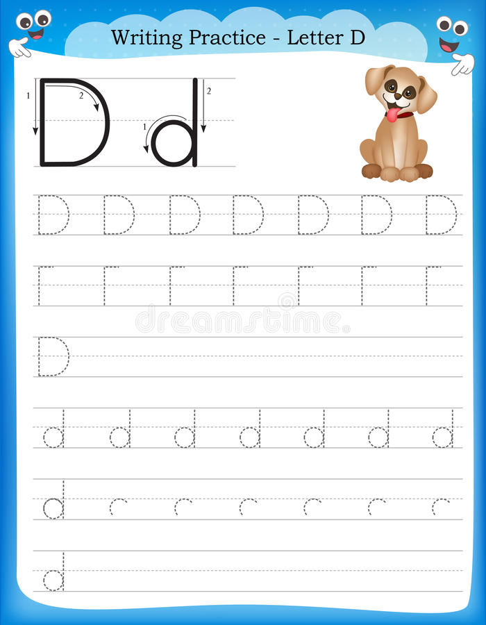 Free Writing Practice Letter D Stock Image - 50726421