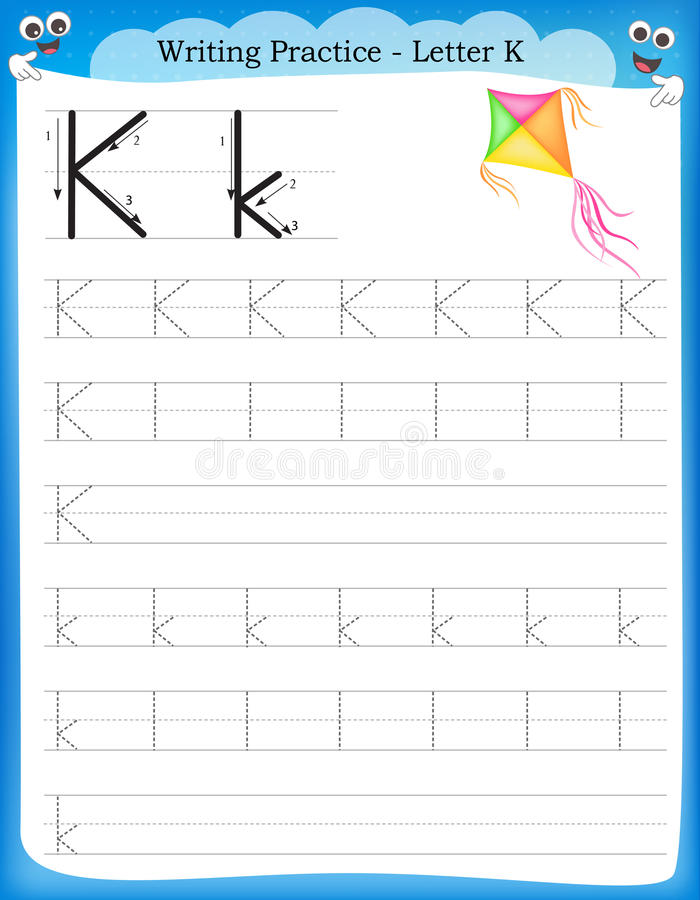 Free Writing Practice Letter K Stock Photography - 50726522