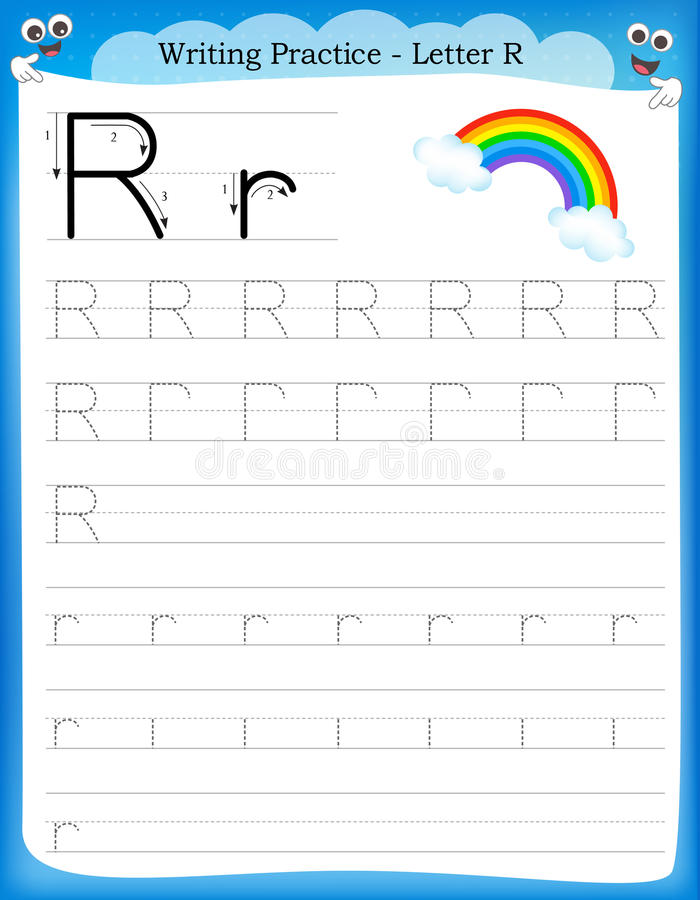 Free Writing Practice Letter R Stock Image - 50726701