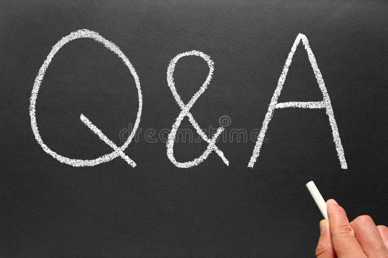 Writing Q&A, Questions and Answers. royalty free stock images