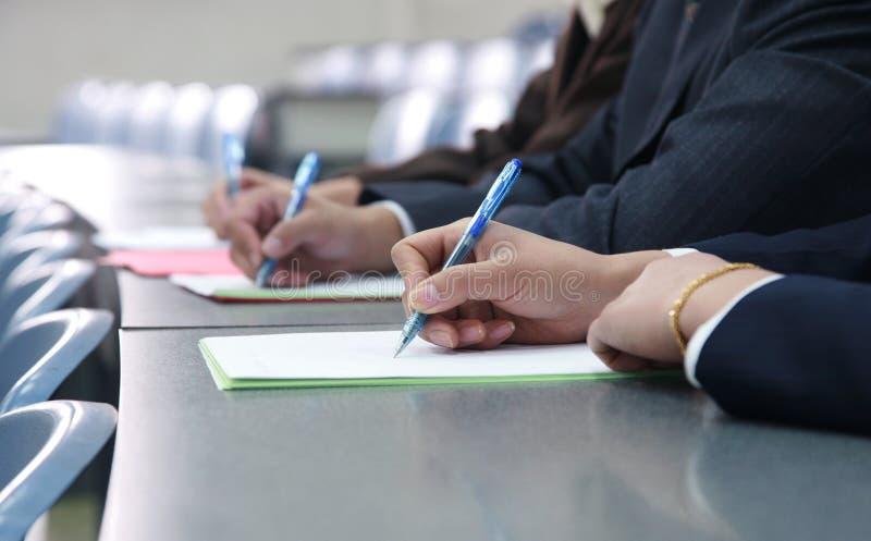 Writing ręki zdjęcia royalty free