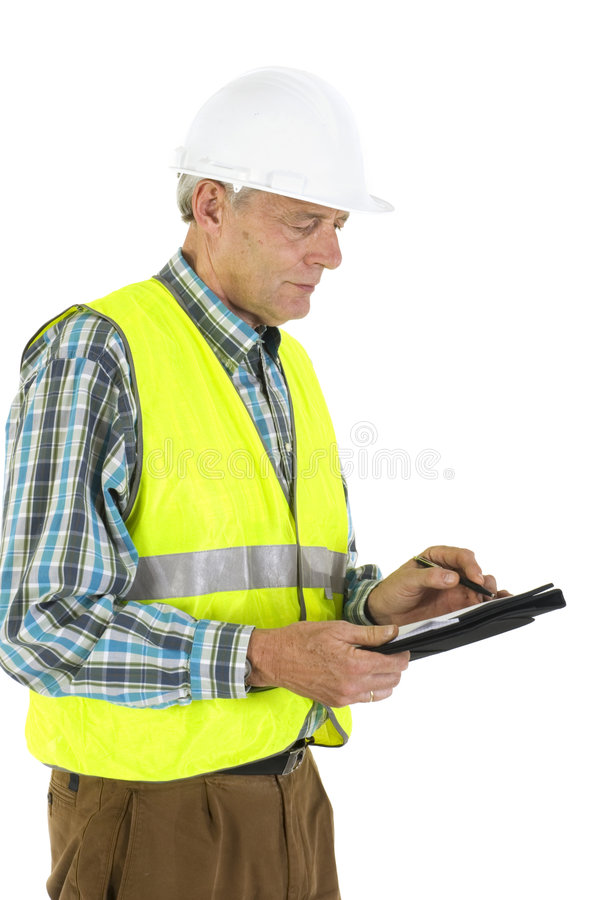 Writing results stock photo