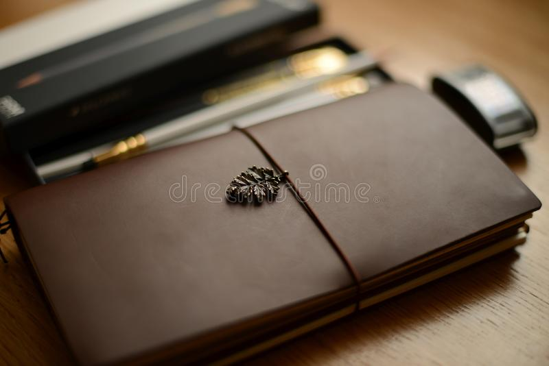 Writing supplies and journal