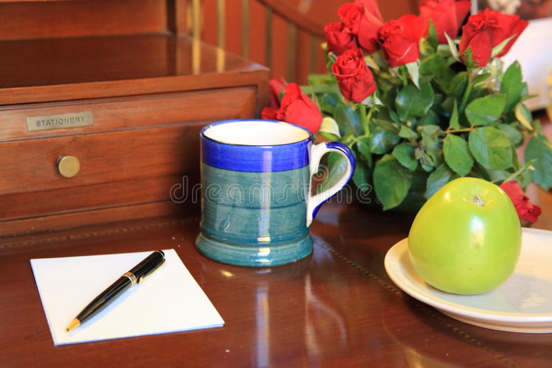 Download Writing table stock photo. Image of accesiors, calender - 15580456