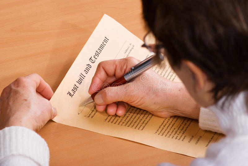 Download Writing Testament stock image. Image of agreement, contract - 17122267