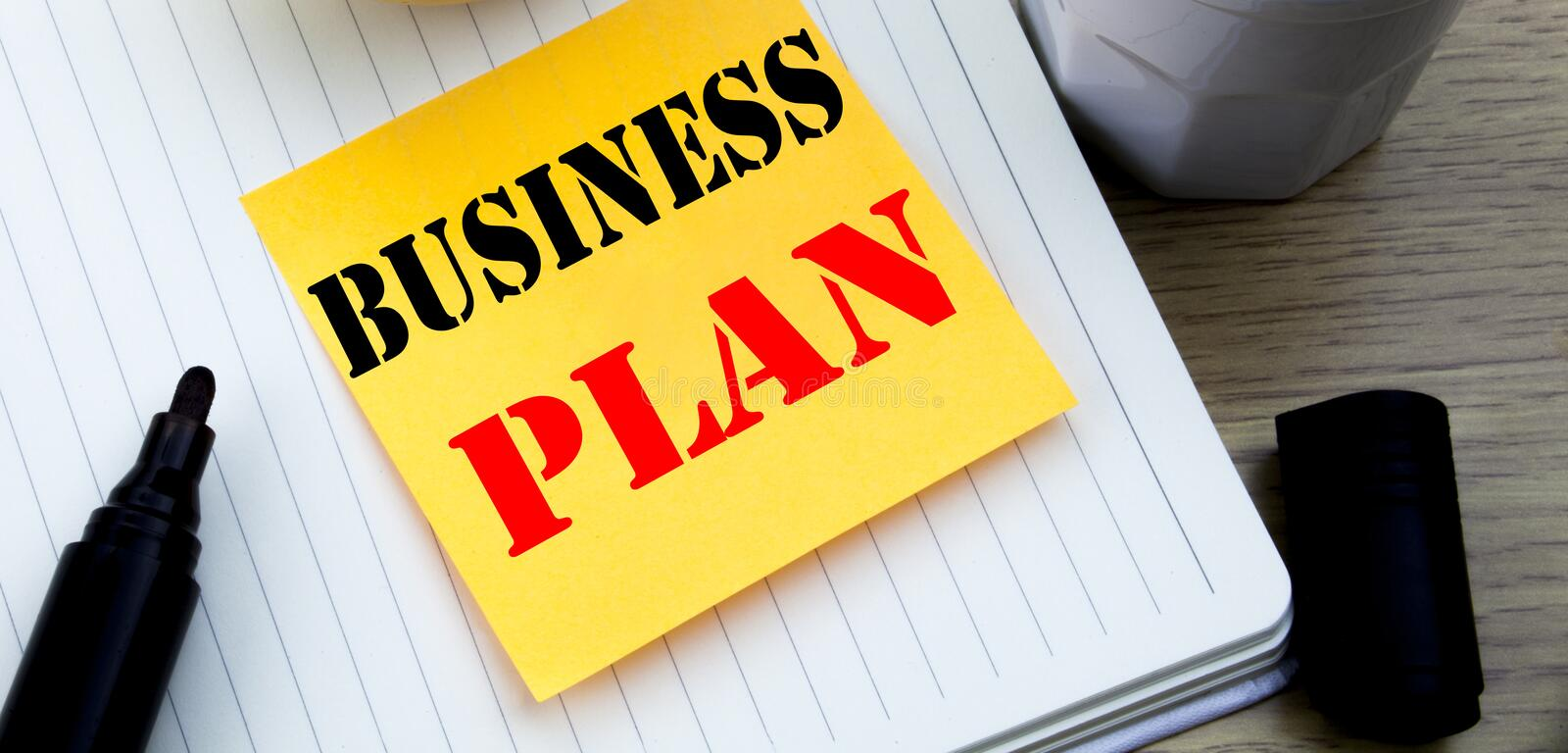 Writing text showing Business Plan Planning. Business concept for Preparation Project Strategy written sticky note empty paper, Wo. Writing text showing Business royalty free stock photography
