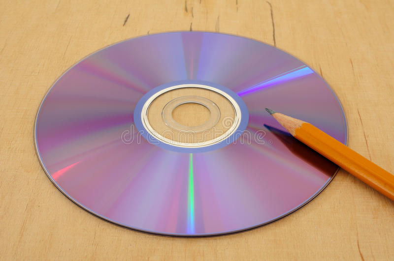 Writing to disc 4 stock image