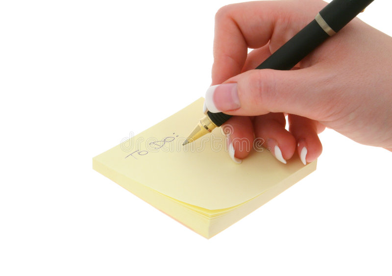Writing TO DO List Stock Images