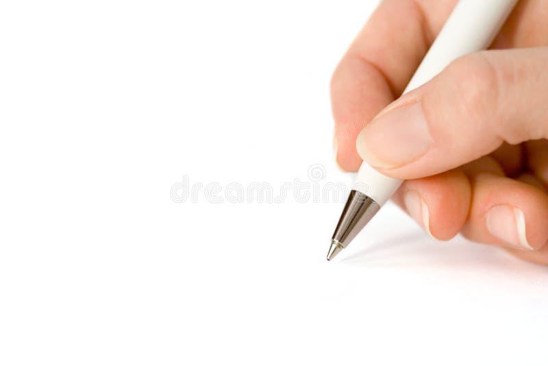 Writing on white paper stock photos