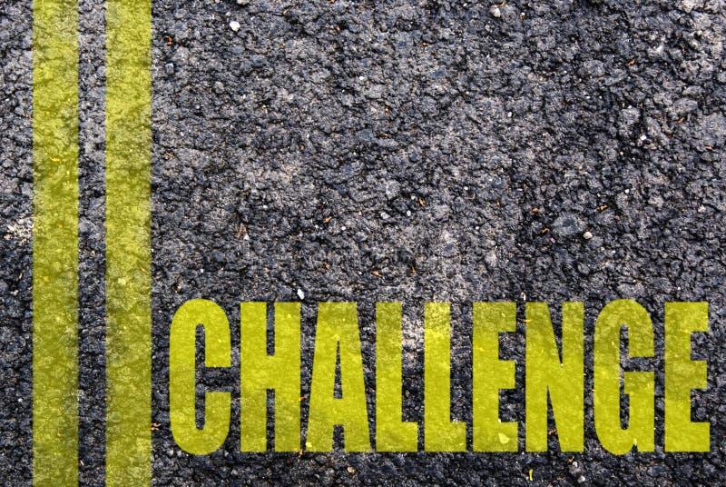 Written challenge royalty free stock image
