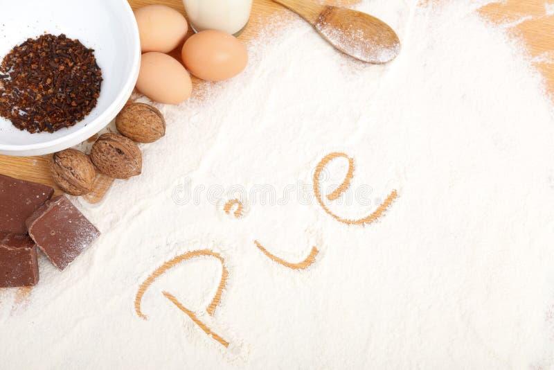 Written in flour - pie