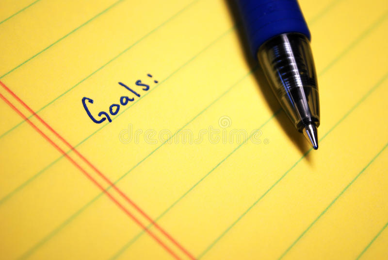 Download Written Goals stock photo. Image of message, write, personal - 11464398