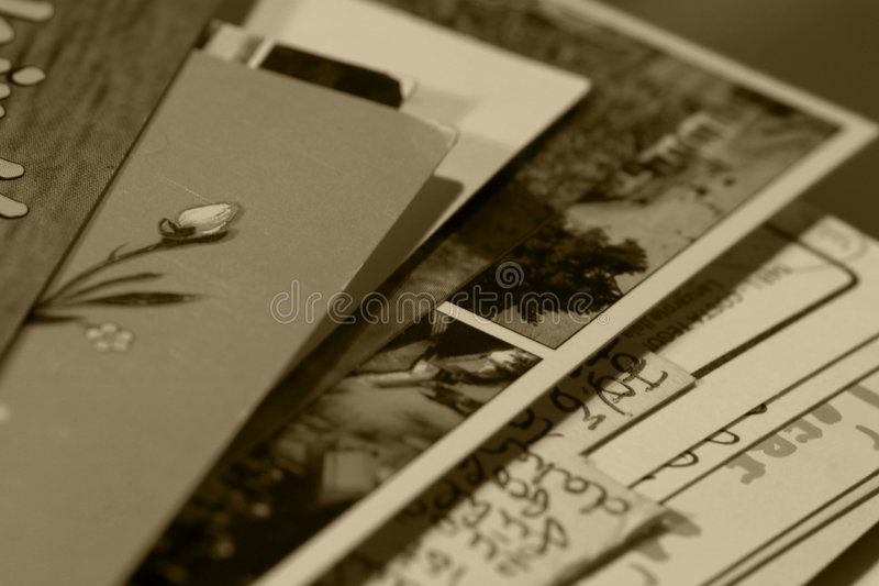 Written memories royalty free stock images