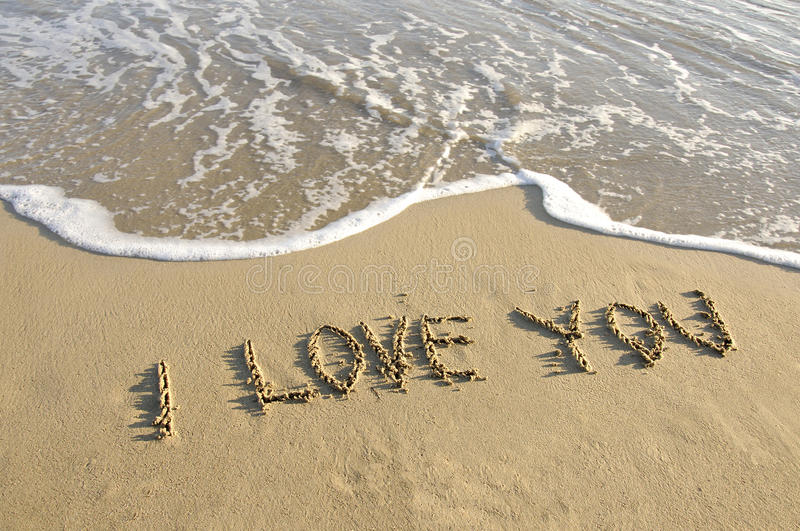 Download Written on the sand. stock image. Image of image, background - 12447687