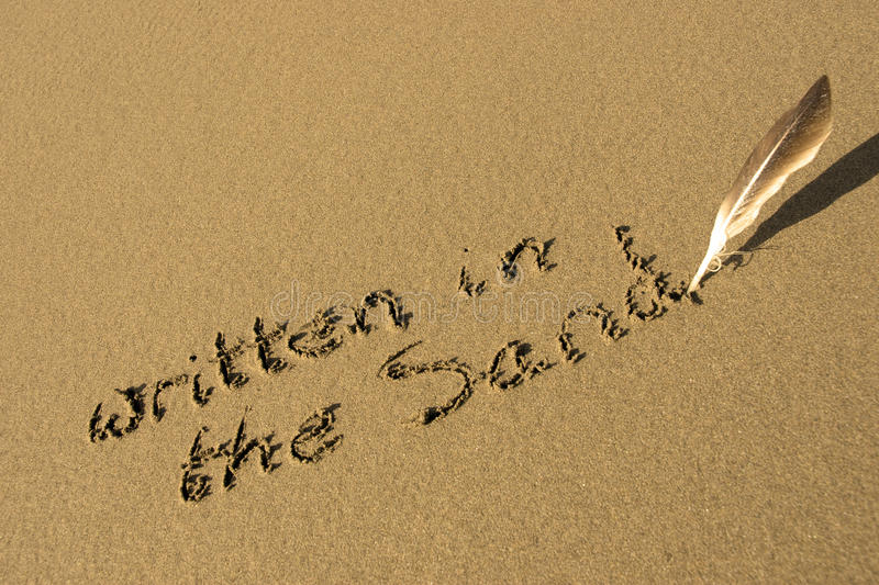 Download It is written in the sand stock image. Image of coast - 22883337