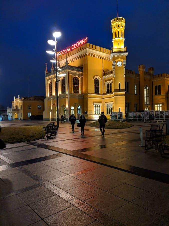 Wrocław Główny royaltyfria foton