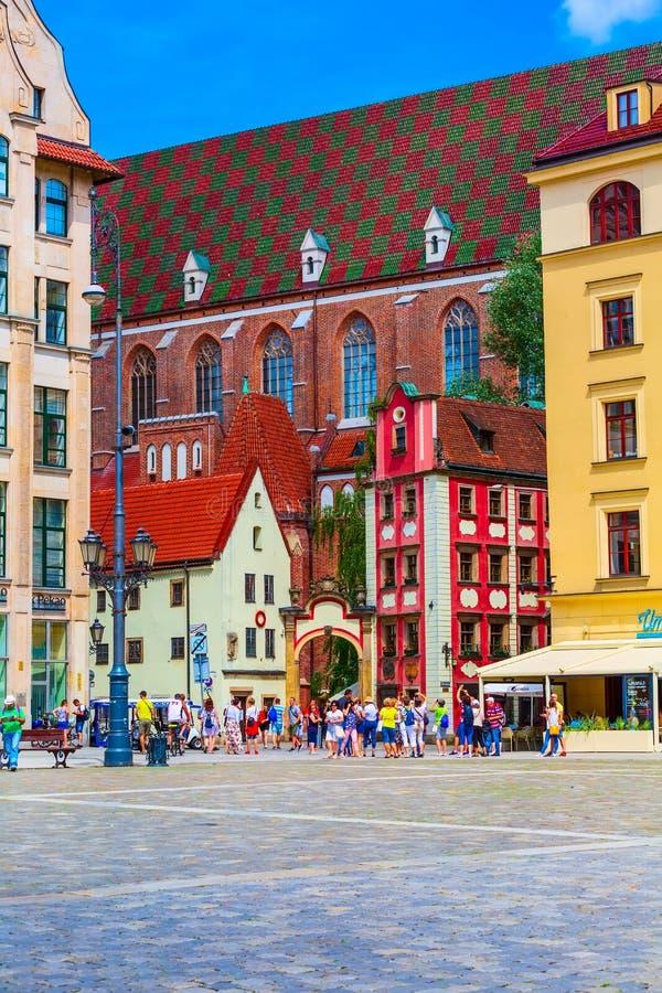 Wrocławski, Polska John i Margaret domie, zdjęcia stock