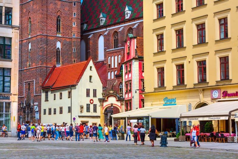Wrocławski, Polska John i Margaret domie, obraz royalty free