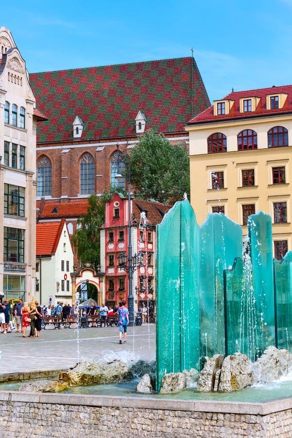 Wrocławski, Polska John i Margaret domie, obraz stock