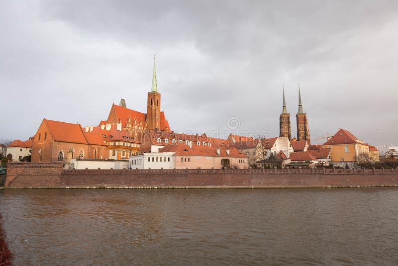 wroclaw Νησί Κάρτα WrocÅ 'aw στοκ εικόνα με δικαίωμα ελεύθερης χρήσης