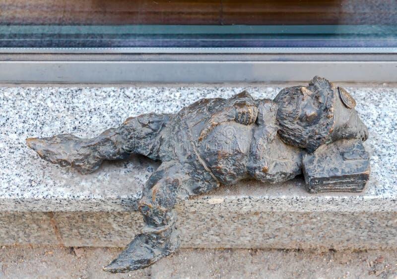 wroclaw Гном скульптуры стоковая фотография rf