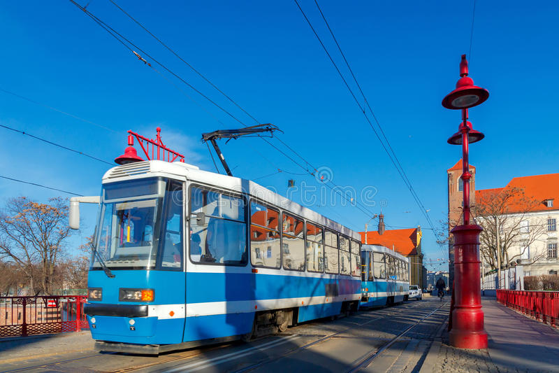 wroclaw Мост Sandy стоковое фото