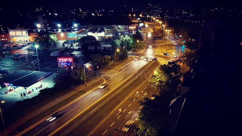 Wroclaw на ноче стоковые изображения rf